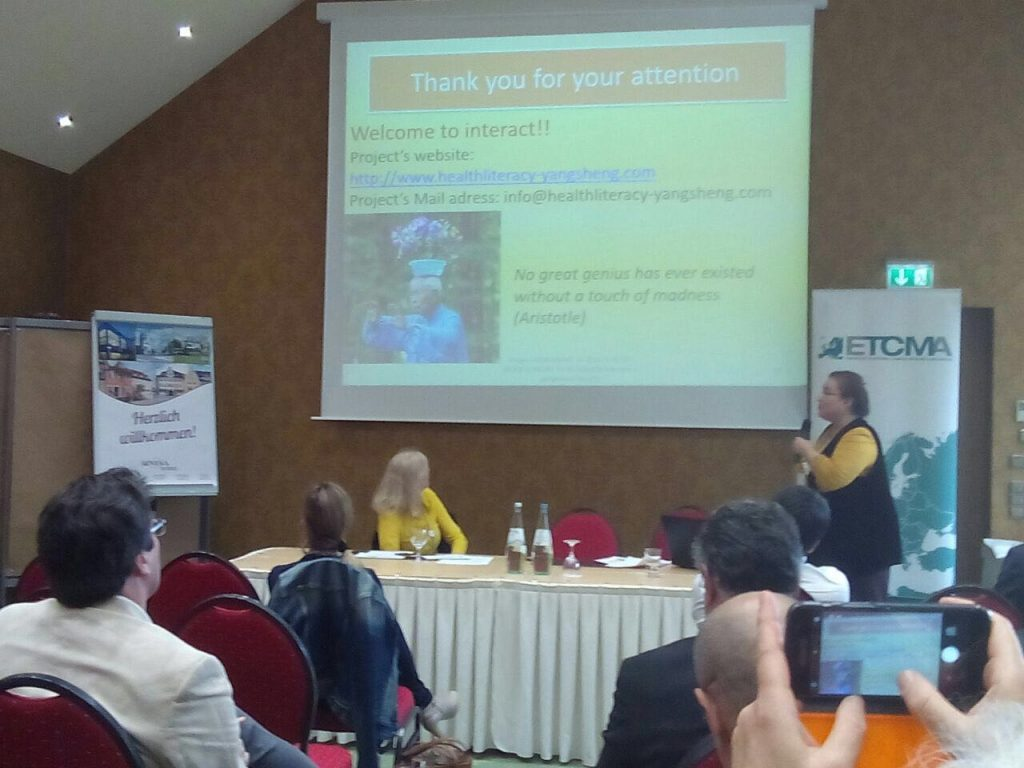 Presentazione del progetto al Congresso di Rothenburg
