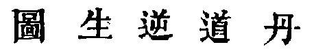 Rappresentazione della generazione inversa secondo l'alchimia taoista