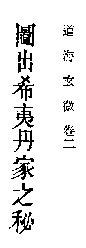 La mappa mostra il segreto della scuola taoista di alchimia interna di Xi Yi (Chen Duan)